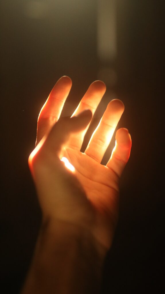light on hand