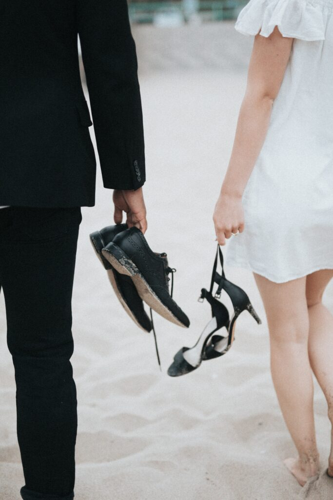 couple with shoes