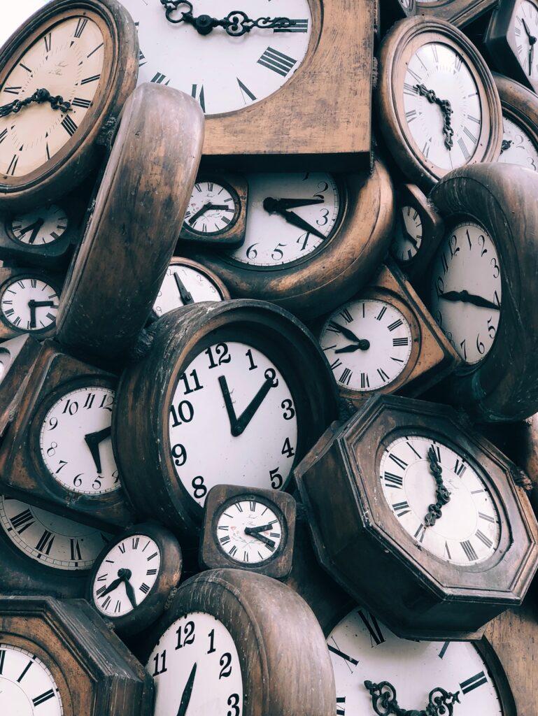 pile of clocks