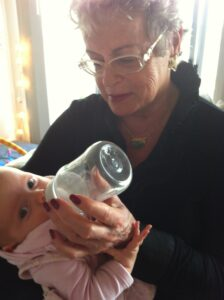 mother and grandchild